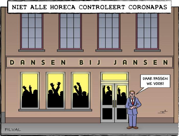 Cartoon coronapas